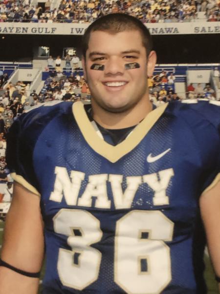 Eric Kettani, Navy Football Photo in uniform.