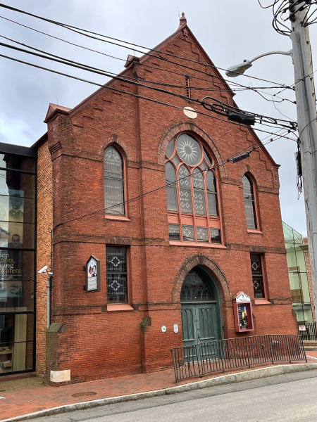 The former Mt. Moriah AME Church is now the Banneker- Douglass Museum.