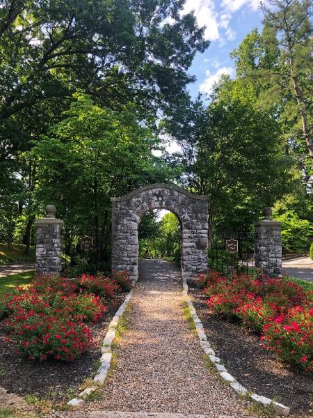 A stone archway decorates the path along Knoxville's Sequoyah Greenway.