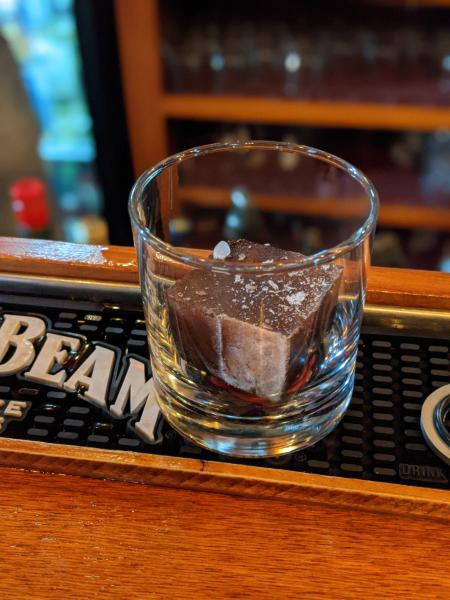 three spirits tavern old fashioned cocoa ice