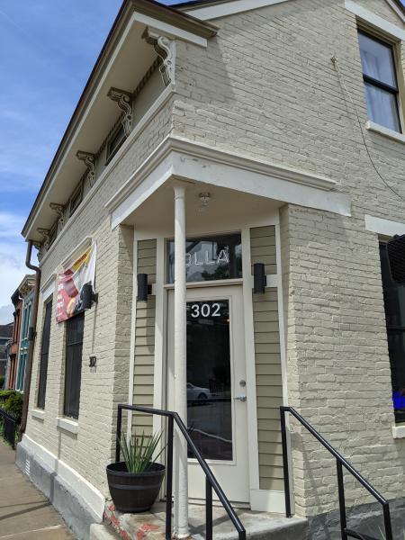 exterior street corner of olla in covington ky