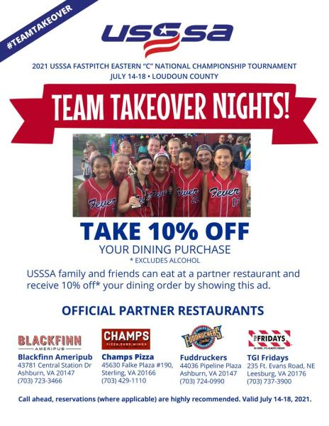 Takeover Night Flyer USSSA 2021
