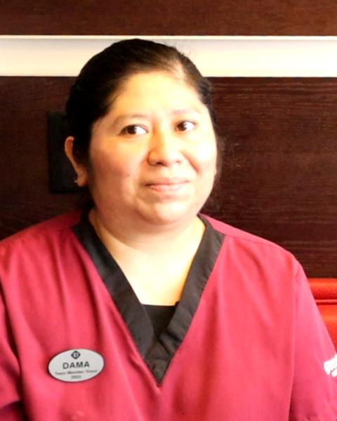Dama de la Cruz, Drury Inn - Housekeeper