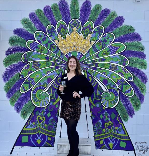 Coastal Mississippi Mardi Gras Museum mural