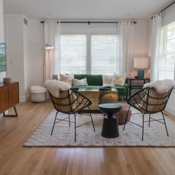 Family seating area of a Bloomington Vacation Rental