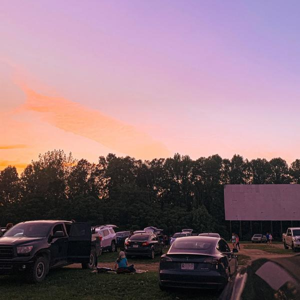 Starlite Drive-In Theater during sunset