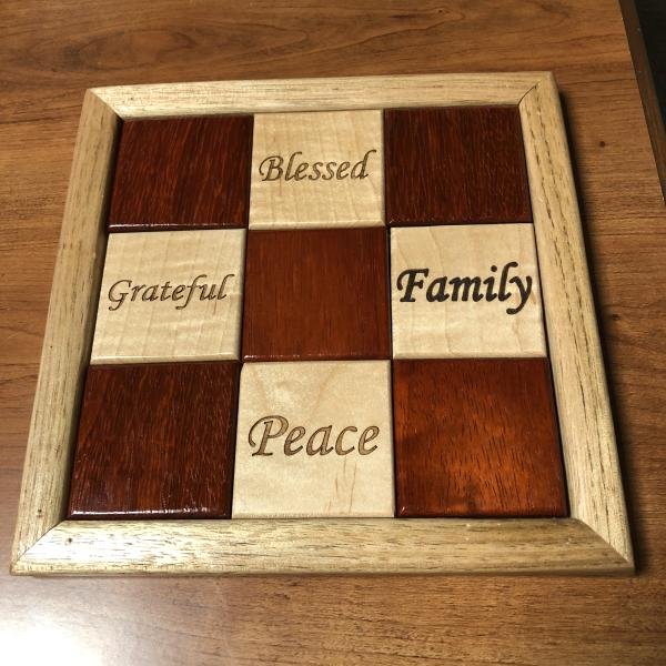 Wooden quilt block from Teaberry
