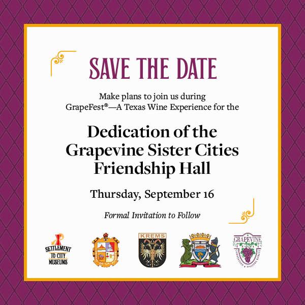 Sister Cities Friendship Hall Dedication