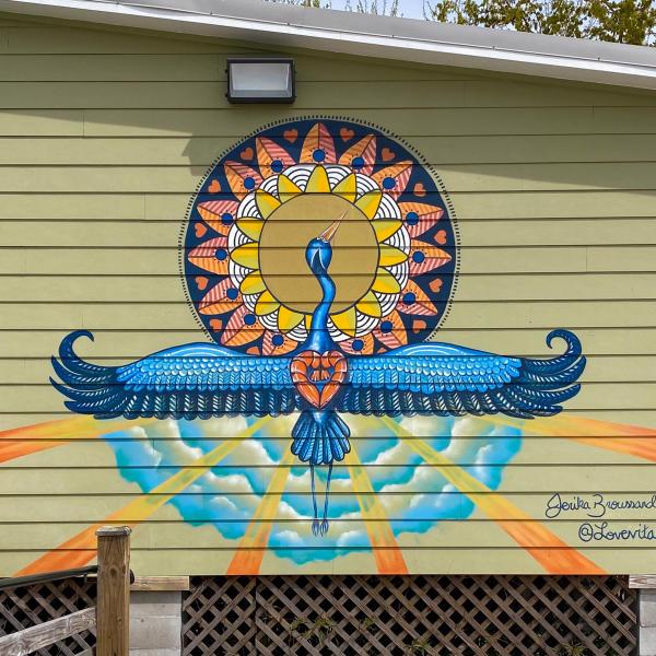 Biloxi Bird mural by Jerika Broussard