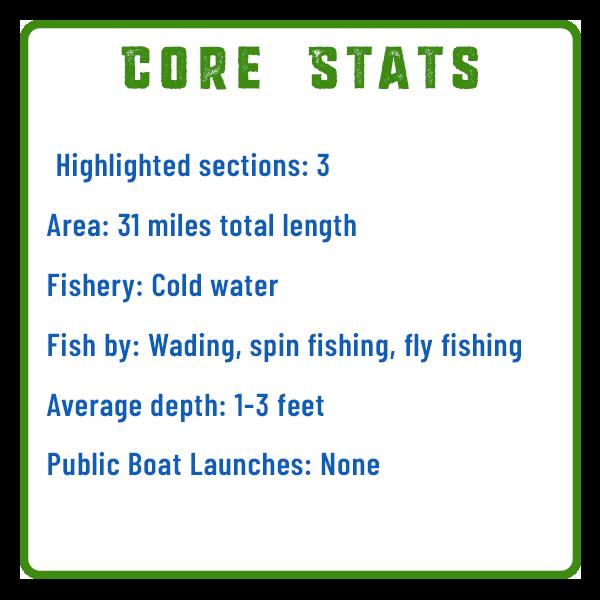 Clark's Creek Fishing Core Stats Adventure Trail