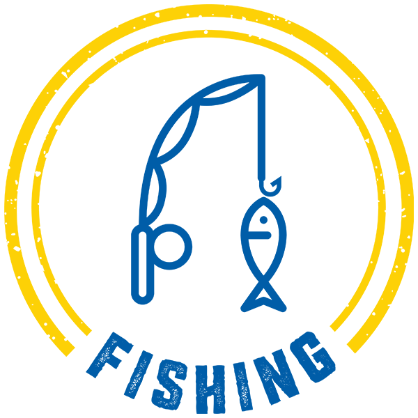 Fishing Badge 2 Color Adventure Trail