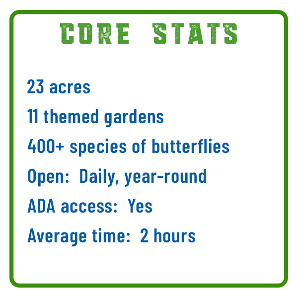 Hershey Gardens Core Stats Adventure Trail