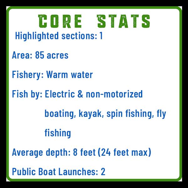 Memorial Lake Fishing Core Stats Adventure Trail