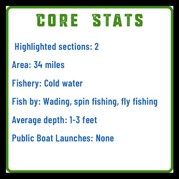 Stony Creek Fishing Core Stats Adventure Trail