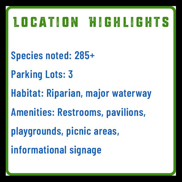Susquehanna River Fort Hunter Bird Watching Features