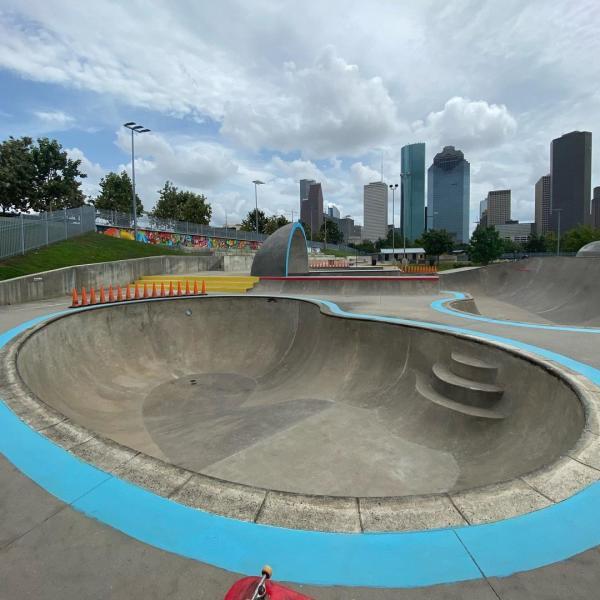 Jamail Skatepark In Houston, TX