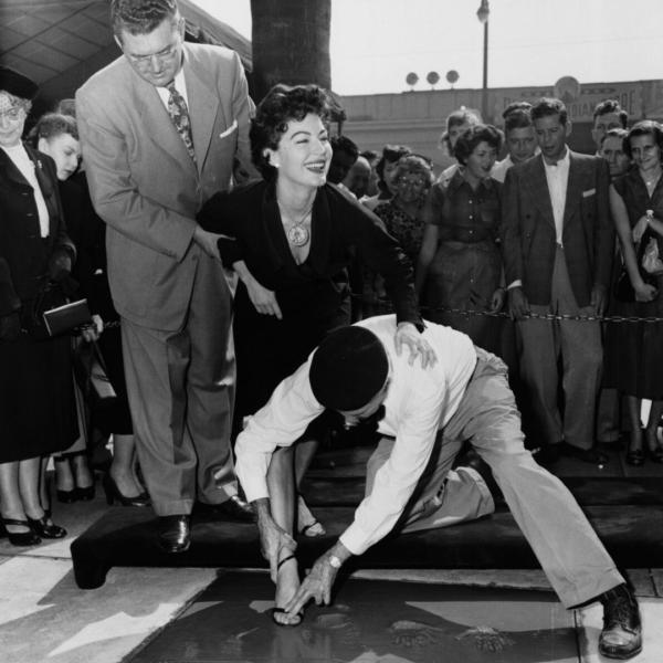 Ava Gardner gets star on the Hollywood Walk of Fame.