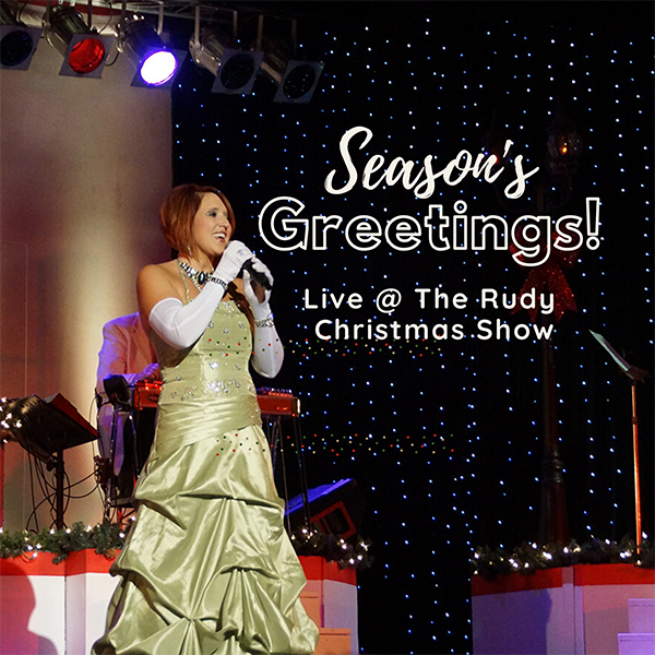 Live @ The Rudy banner ad for the Holiday Show.