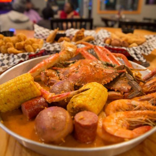 Cajun seafood boil meal
