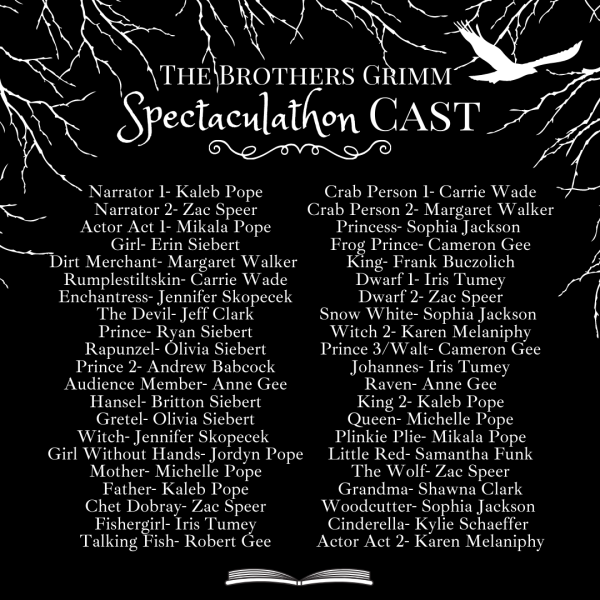 Here's a look at the talented cast involved in bringing The Brothers Grimm Spectaculathon to life.