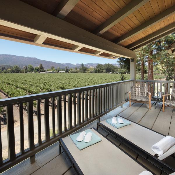 Harvest Inn Balcony Deck