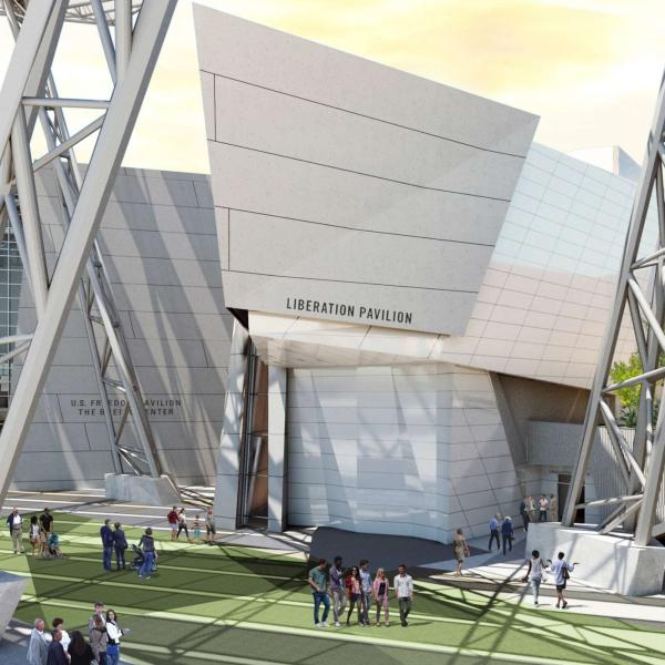 Exterior Rendering of the Liberation Pavilion at The National WWII Museum