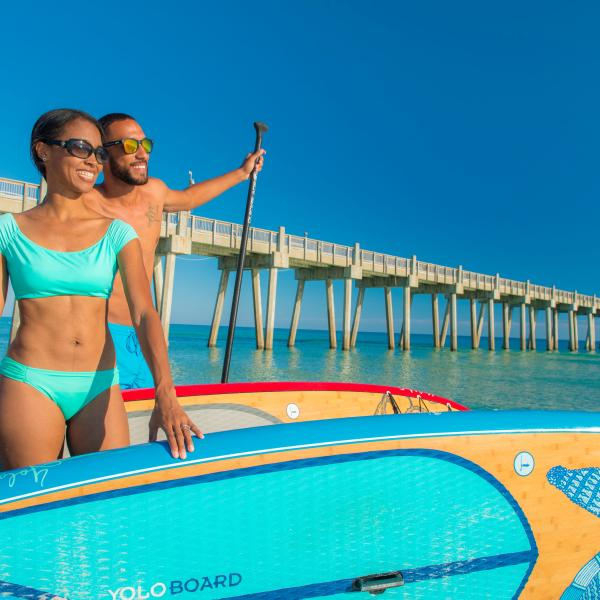 Paddleboard and Pier