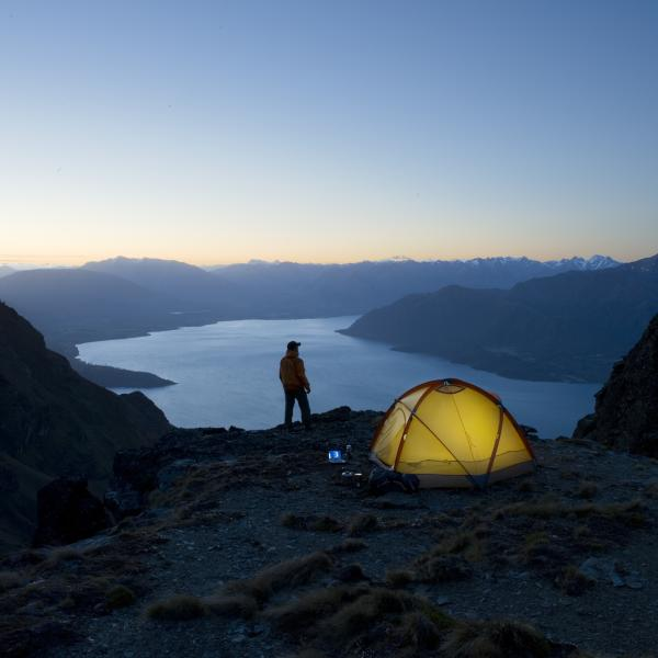 Camping at Cecil Peak