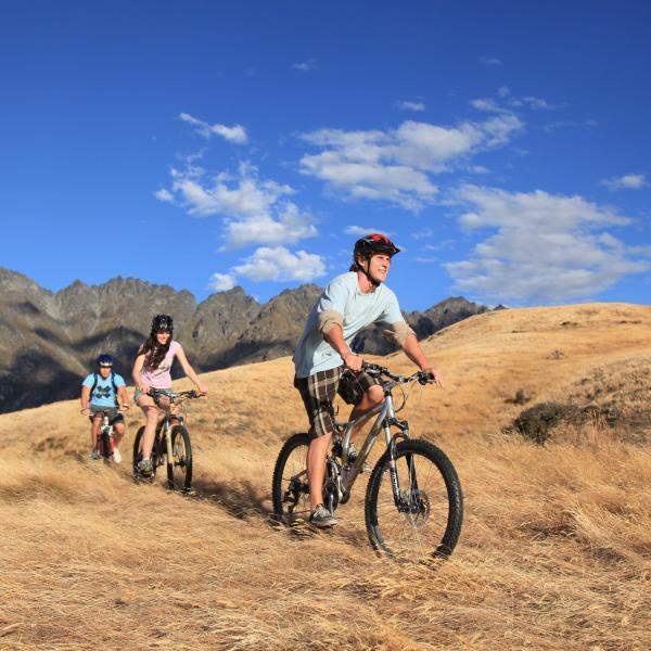 Summer biking at Jack's Point