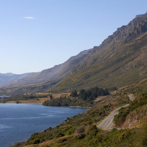 Arriving in Queenstown from the south