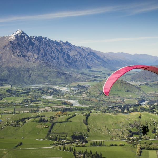Paragliding from Coronet Peak