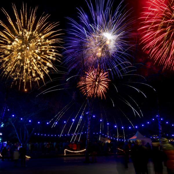 Fireworks at Winter Festival