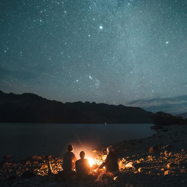 Stargazing over Lake Wakatipu