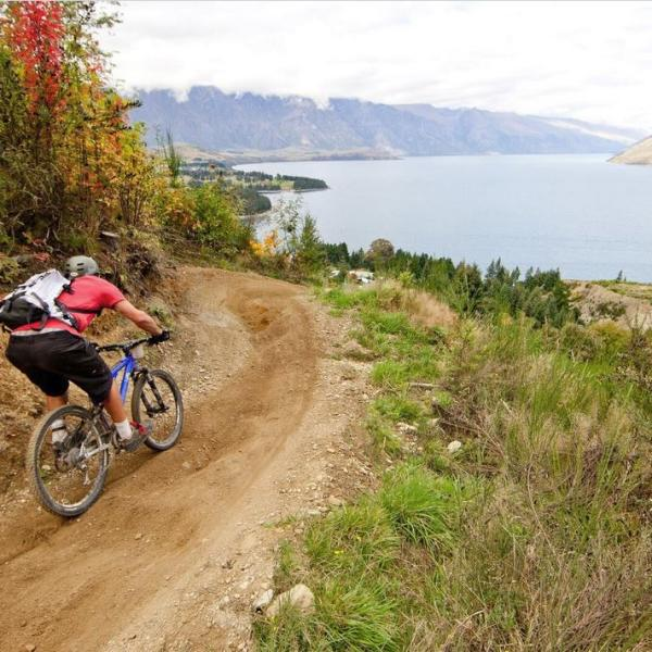 Riding Queenstown Bike Park
