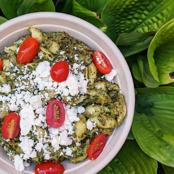 The Owl House Pesto Pasta Takeout
