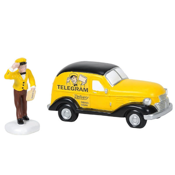 """""""A Christmas Story"""" Department 56 Old Man's Telegraph Car"""