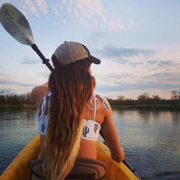 Paddle, kayak, girl, water, outdoors