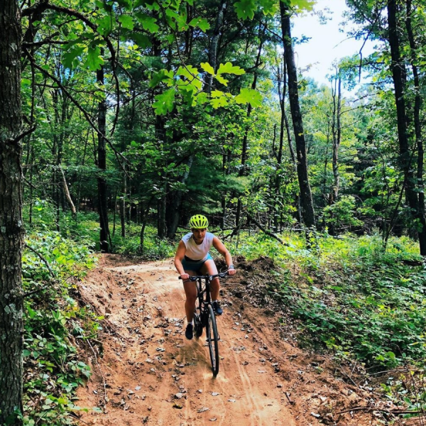 bike, mountain bike, trees, trail, outdoors