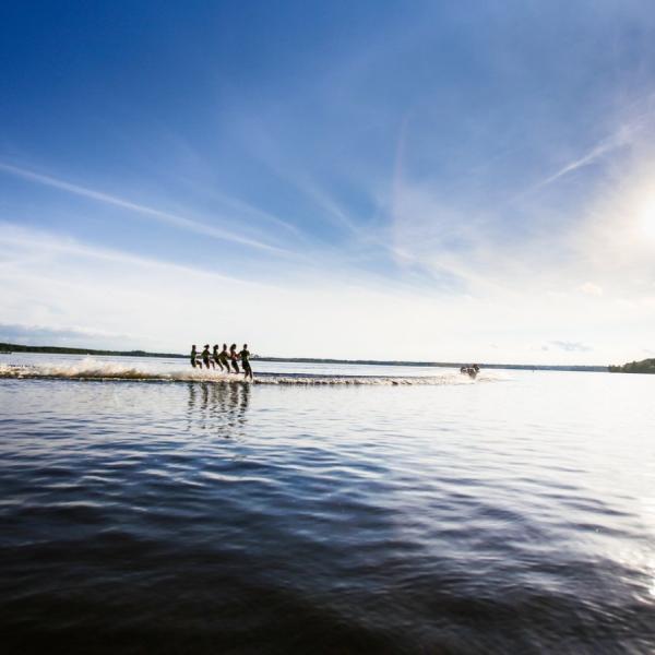Waterskiing, water, outdoors