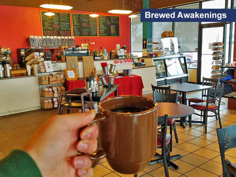 Coffee at Brewed Awakenings, Saline, MI