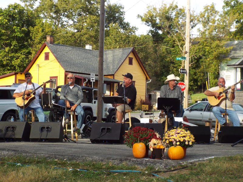 Band performing at the Stinesville Stone Quarry Festival