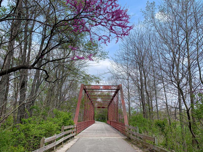 The iron bridge on Clear Creek Trail