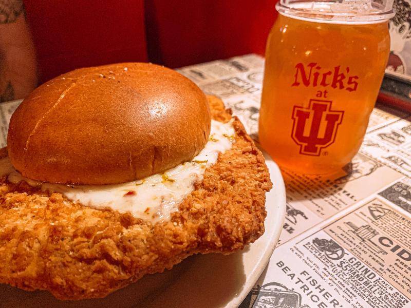Pork tenderloin sandwich from Nick's English Hut