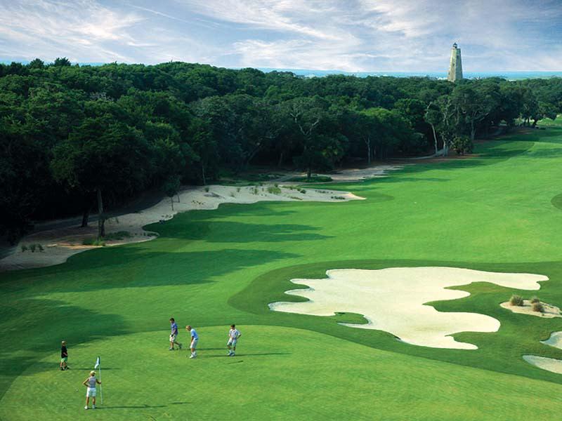 Golf course at the Bald Head Island Club in North Carolina.