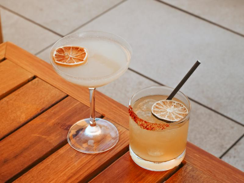 Marriott Irvine Spectrum Hive and Honey Rooftop Bar Signature Cocktails