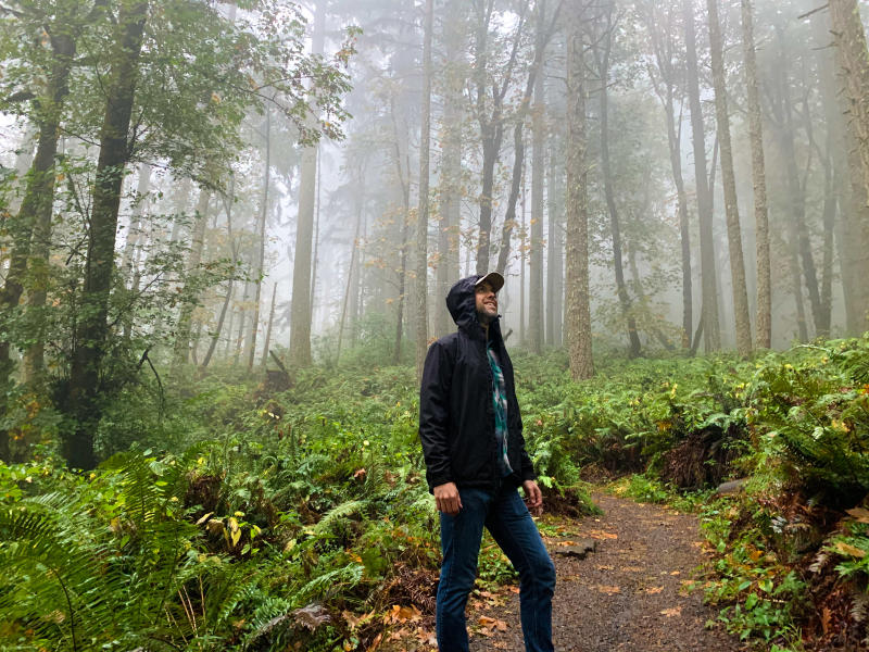 Rainy Hike on the Ridgeline Trail by Melanie Griffin