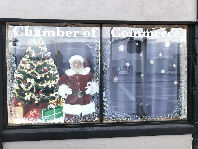 Cottage Grove Chamber of Commerce window selfie set by Taj Morgan
