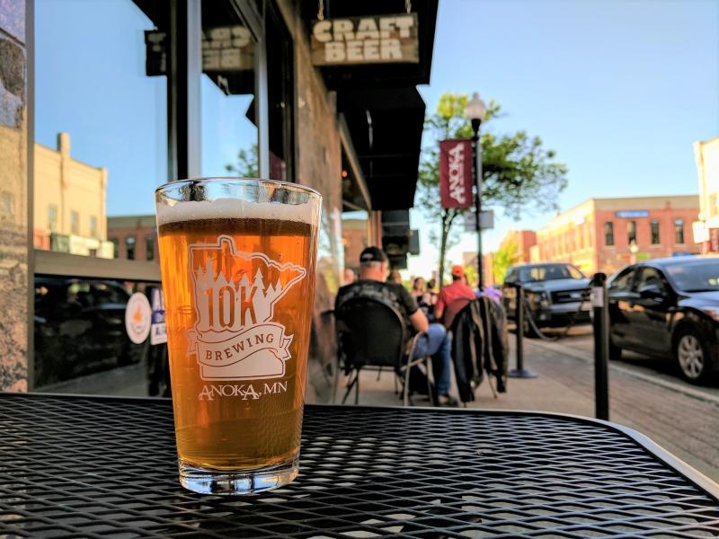 Pint of beer at 10K Brewing patio