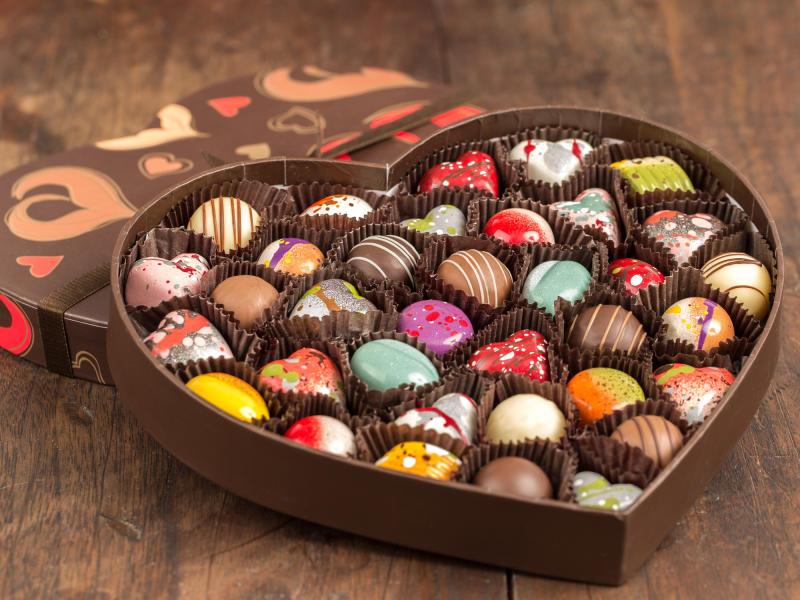 Heart of chocolates