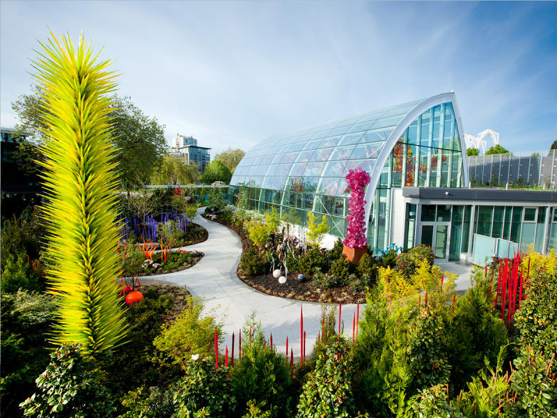 Chihuly Glass Museum garden